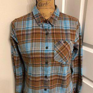 PATAGONIA Women's Flannel Plaid Shirt Size 4